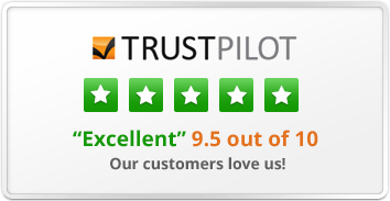 Our customers love us! 5-star Trustpilot rated